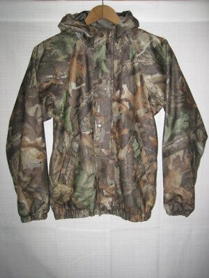 ee0f6735a14ca Advantage Timber camo waterproof rain jacket men's L brown hunting deer duck