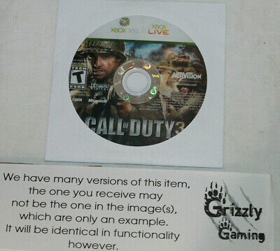 USED Call of Duty 3 Microsoft XBOX 360 (Disc Only)