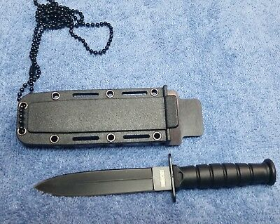"6"" COMBAT TACTICAL NECK KNIFE Survival  Military Fixed Blade + Sheath"