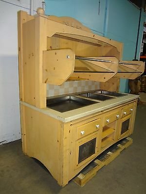 Commercial Custom Built 1 Hot, 2 Cold + Dry Display Lighted Grab-N-Go Station,