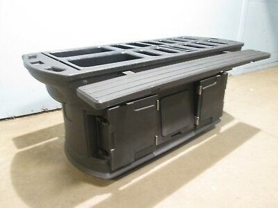 COMMERCIAL H.D. PORTABLE POLY COLD FOOD BAR/BUFFET/SALAD BAR w/GEL PACKED PANS