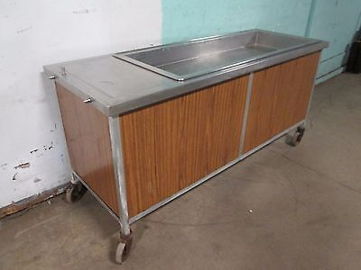 """Atlas Metal Wcm-4"" Hd Commercial Refrigerated 4 Pans 75""W Cold Food/Salad Bar"