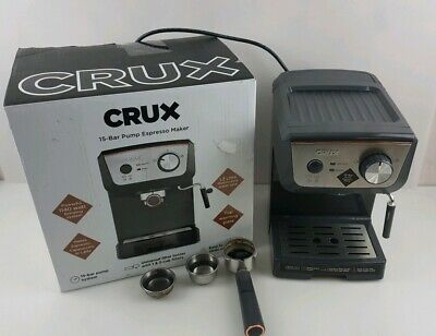 CRUX CRUX006 15 Bar Barista Coffee Espresso Machine Steam Wand Latte Cappuccino.