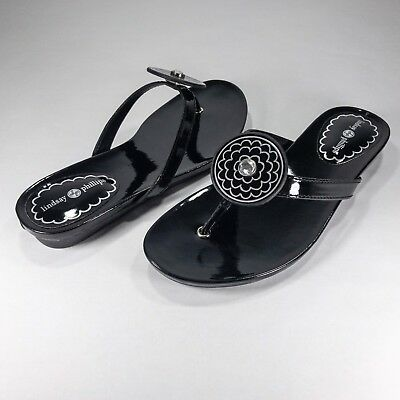 bb2ac4c84 LINDSAY PHILLIPS SwitchFlops Snap Sandal BLACK Patent Leather   RHINESTONE  Carol