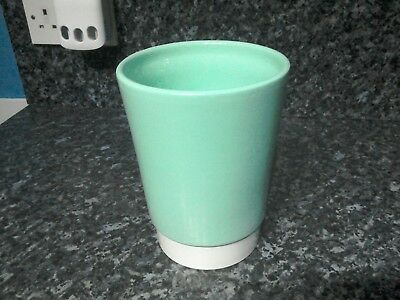 large Heavy turquoise colour  modern type vase