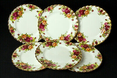 6 Royal Albert Old Country Roses 16cm Side Plates  1st Quality 1962-73 VGC