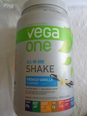 VEGA ONE All-in-One French Vanilla SHAKE 29.2 oz best by 12/13/2019