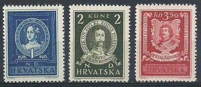 GERMANY. CROATIA. 1943. THIRD REICH, WW2 Famous People, MNH OG
