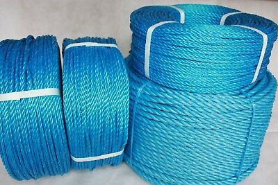 Camping, Agriculture 12mm Polyrope Sailing Blue Polypropylene Rope Coils
