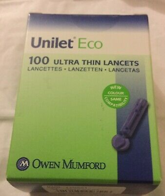 Unilet Eco 100 Ultra-Thin Lancets 28g   0.375mm. AT0935