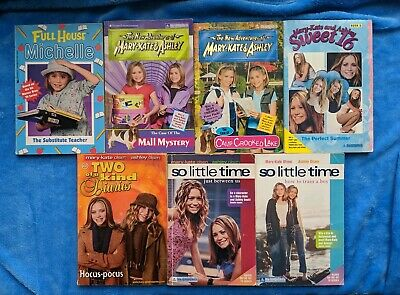 MARY KATE AND ASHLEY OLSEN 7 Paperback Book Lot So Little Time Sweet 16