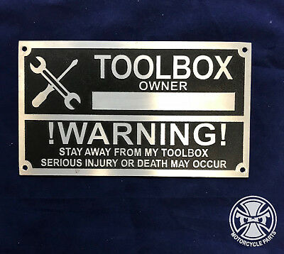 Etched TOOLBOX Name Plate