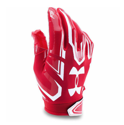 UA Under Armour F5 Adult MD Receiver Football Gloves 1271183 600 Heatgear Red