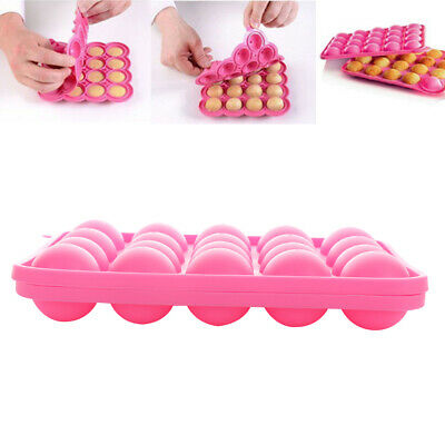 Baking & Pastry Tools Clever New Silicone Pop 16 Holes Lollipop Mold Stick Tray Cake Mould Chocolate Ball Cupcake Cookie Candy Maker Diy Baking Tool Home & Garden