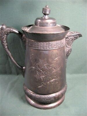 Antique Middletown Insulated Silverplate Water Pitcher-