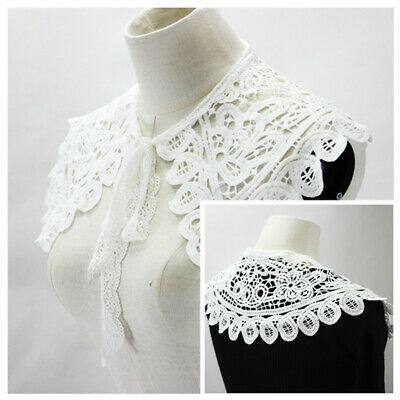 1PC Lace Collar Detachable Lapel Choker Necklace Shirt Cloak Fake False Collar