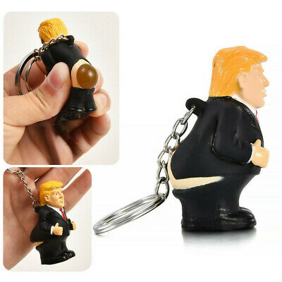 Donald Trump Poop Keyring President Squeeze Funny Key Chain Fun Gifts Toy