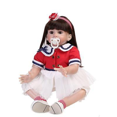 24'' Toddler Reborn Baby girl Doll Big likelife newborn silicone toys kids gift