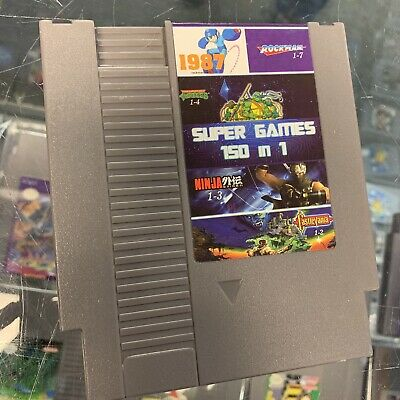 Super Games 150 in 1 Nintendo NES Cartridge Multicart - Newest Version!