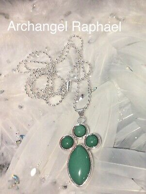 Code 477 Archangel Raphael Charged n Infused Green Jade Necklace Heal Yourself