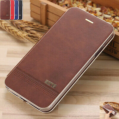 For iPhone 6S 7 8 Plus XR XS Max XS Magnetic Flip Leather Stand Card Cover Case
