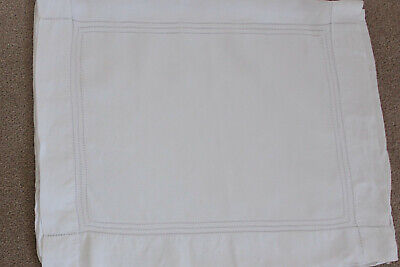 Vintage fine white linen lingerie or nightdress case with white ladder work.