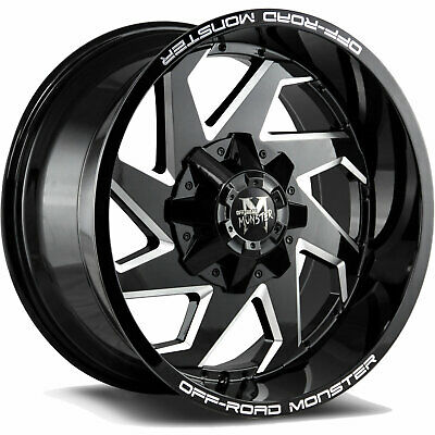 4 Four 20x12 44 Off Road Wheels Xtreme Mudder Xm 324 Chevy Gmc Ford