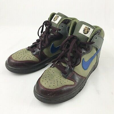 best website e742d 9a205 Nike Dunk High Premium World Cup 306968-341 Mens Size 12 Olive Military Blue