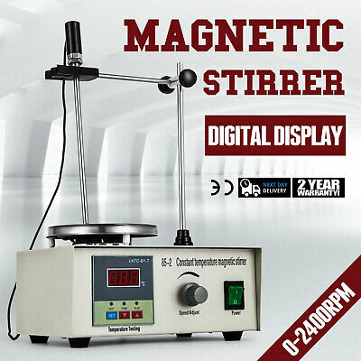 UK Magnetic Stirrer with Heating Plate 85-2 Hotplate Digital Mixer Display 220V