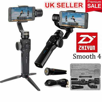 Zhiyun Smooth 4 Handheld 3-Axis Gimbal Stabilizer for iPhone X 8 7 6 Samsung