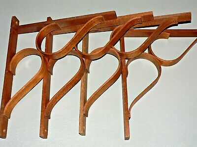 Vtg Handmade Bentwood Corbels Architectural Wooden Bracket Lot of 4