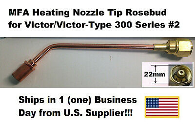 MFA Heating Nozzle Tip Rosebud for Victor/Victor-Type 300 Series #2 (1187-2)