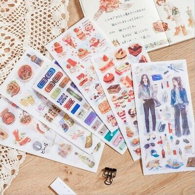 3 Pieces / Bag Scrapbooking Stationery Hand-painted Diary Paper Flower Sticker