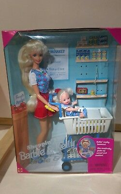 Vintage Shoppin' Fun Barbie & Kelly Doll  # 15756 Mattel 1995 New Playset