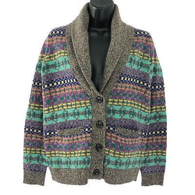 012d54ae67 Wallace By Madewell Color Track Cardigan Sweater Merino Wool Women s Size XS