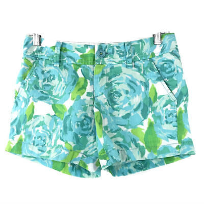a2e0b180c5912a Lilly Pulitzer Poolside Blue First Impression Callahan Shorts Women's Size  00
