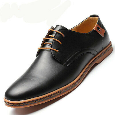 US Men's Fashion Formal Leather Dress Oxfords Business Lace up Casual Shoes US