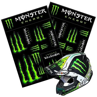 🔥HOT SELLING🔥 2x Monster Energy Drink Logo Sheet of 12 Stickers Decals