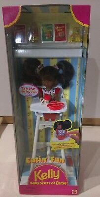Kelly Baby Sister of Barbie doll Eatin' Fun 1997 High Chair 18596 New