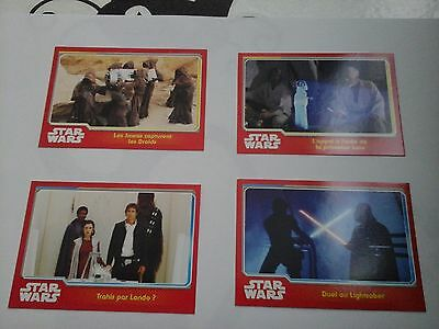 "Cartes Star Wars ""Le réveil de la force"" lot de 4"