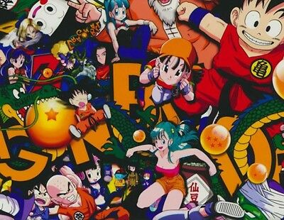 dragonball z hydrographic film hydro dipped 100cm width, various lengths