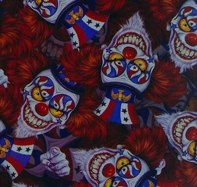 freaky clown hydrographic film hydro dipped 50cm width, various lengths