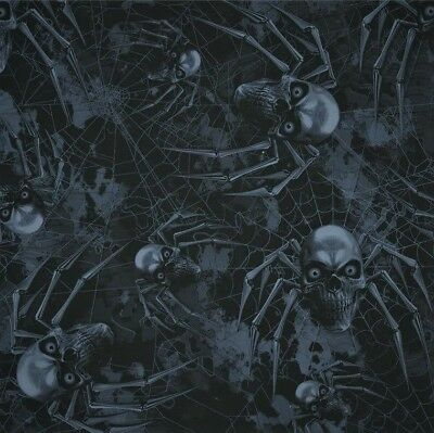 creepy spider hydrographic film hydro dipped 50cm width, various lengths