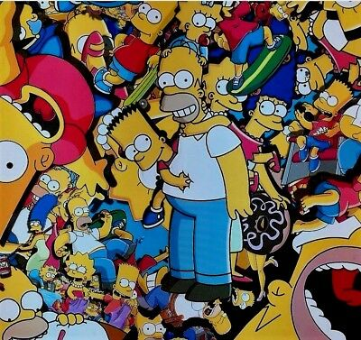 simpsons hydrographic film hydro dipped 100cm width, various lengths