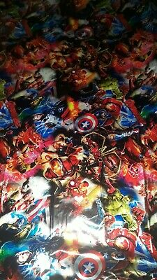 Super hero hydrographic film hydro dipped 50cm width, various lengths