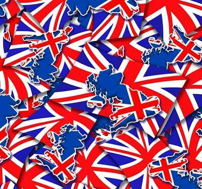 Union jack hydrographic film hydro dipped 100cm width, various lengths