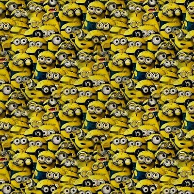 minions hydrographic film hydro dipped 50cm width, various lengths