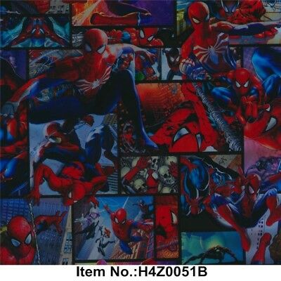 Spiderman hydrographic film hydro dipped 50cm width, various lengths