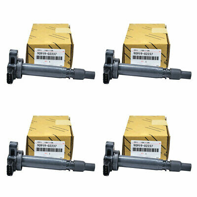 4PCS OEM IGNITION COIL COILS FOR Toyota Tacoma 2.4L 2.7L L4 C1305 90919-02237