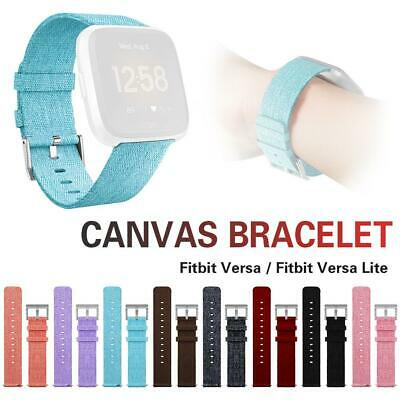 For Fitbit Versa&Lite Replacement Canvas Wrist Band Strap Watch Bracelet Bands